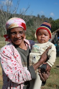 woman and baby in Madagascar